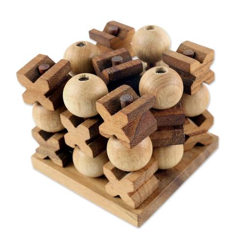3D Tic Tac Toe Wood Game