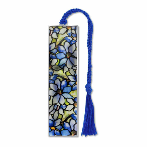 Tiffany Clematis Bookmark - Electro-plated Giclee Print