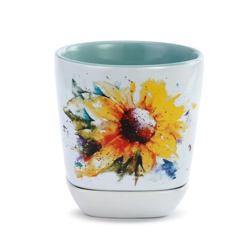 Sunflower Cup & Trinket Set By Dean Crouser