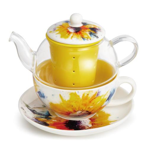 Sunflower Tea Pot Set  By Dean Crouser