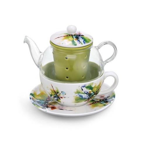 Dragonfly  Tea Pot Set  By Dean Crouser