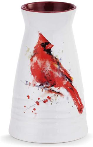 Redhead Cardinal Vase  By Dean Crouser
