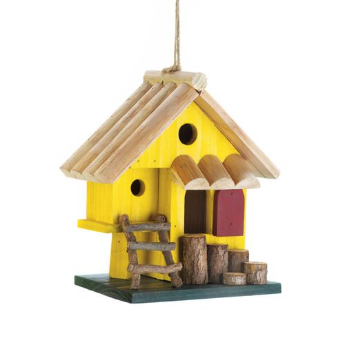 Yellow Tree Fort  Birdhouse