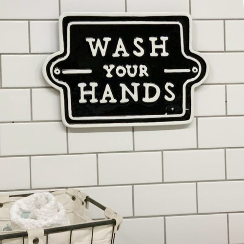 "15"" ""Wash Your Hands""  Metal Sign"