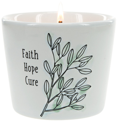 Faith Hope Cure  ~ 8oz 100% Soy Candle
