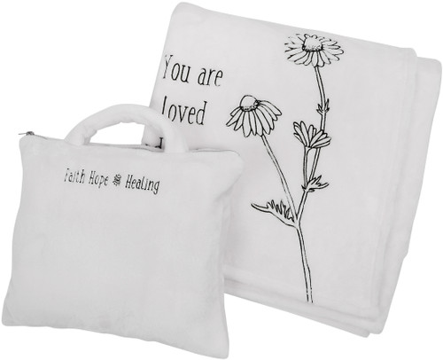 "You are Loved ~ 50"" X 60"" Travel Blanket W/Case"
