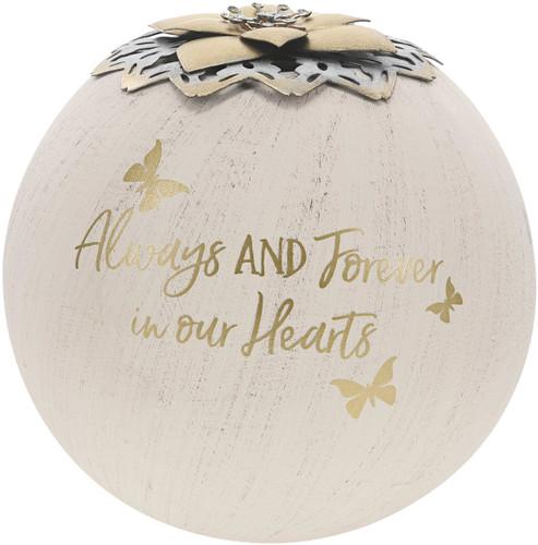 "Always & Forever  ~ 5"" Tea Light Candle Holder"