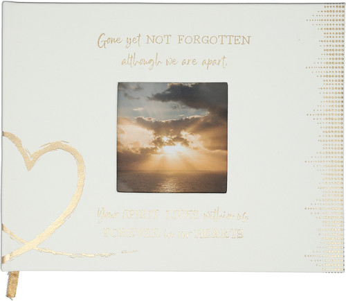 """Forever in Our Hearts ~9"""" X 7"""" Memorial Guest Book"""