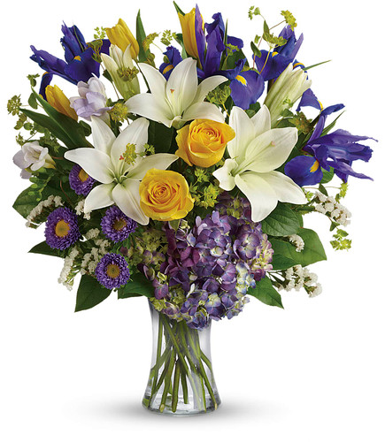 Floral Spring Iris Bouquet