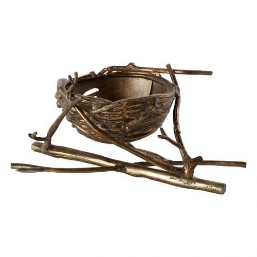 Casted Nest Basket - Bronze
