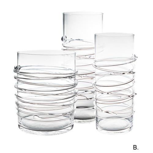 "10"" x 5.5"" Spun Clear Glass Cylinder- Glass"