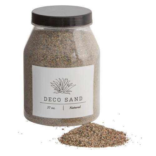 Jar of 37 oz Deco Sand - Natural, White  & Black
