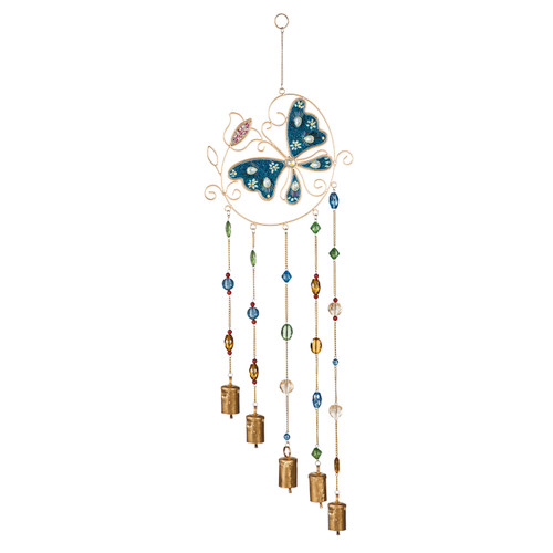 Butterfly Design Beaded Wind Chime by Evergreen