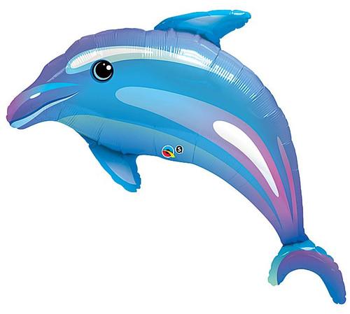 "42"" Delightful Dophin ~ Super Shape Mylar Balloon"