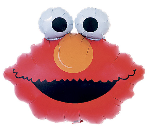 "20""Elmo Head ~ Super Shape Mylar Balloon"