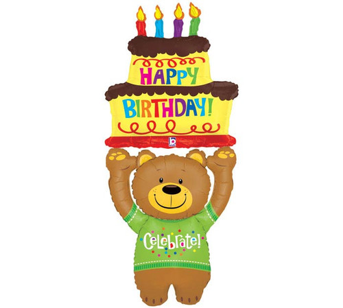 """60"""" Special Delivery Bear~ Super Shape Mylar Balloon"""