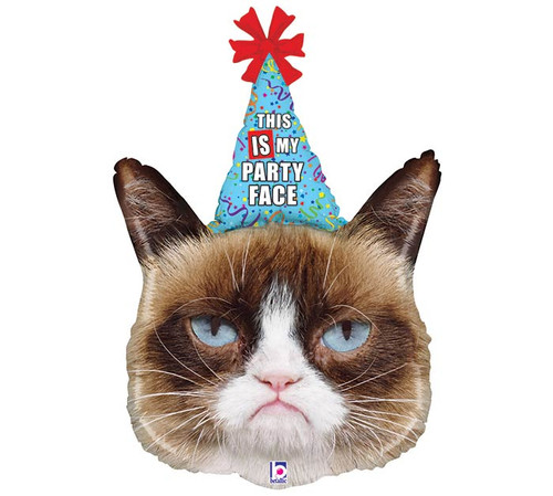 "36"" Grumpy Cat ~ Super Shape Mylar Balloon"