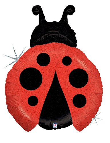 """27"""" Holigraphic Lady Bug   ~ Super Shape Mylar Balloon"""