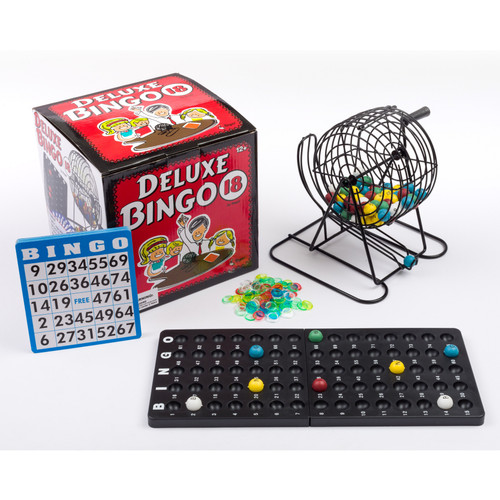 Deluxe Bingo with Cage Game Set