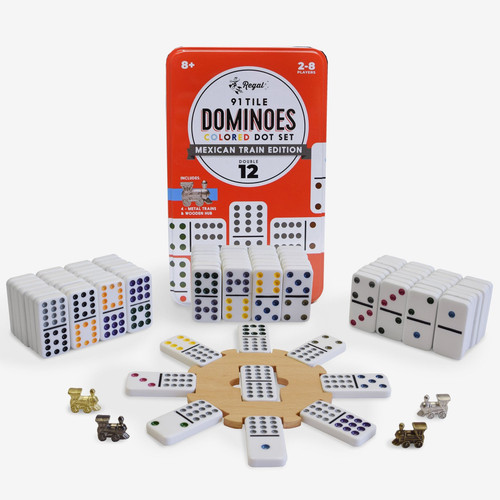 Double 12 Dominos ~ Mexican Train Set