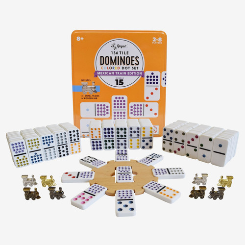 Double 15 Dominos ~ Mexican Train Set