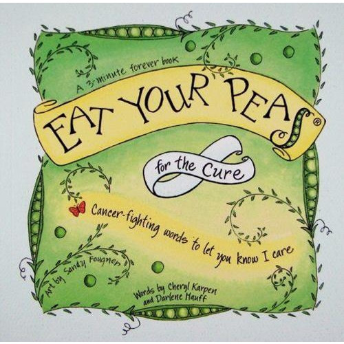 Eat Your Pea's for the Cure ~~Personalized Greeting Card/Gift Book