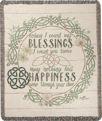 Irish Blessings  with Verse Tapistry Throw