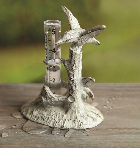 Hummingbird Cast Iron Rain Gauge