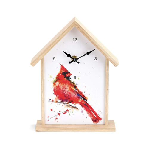 Redhead Cardinal Birdhouse Clock  By Dean Crouser