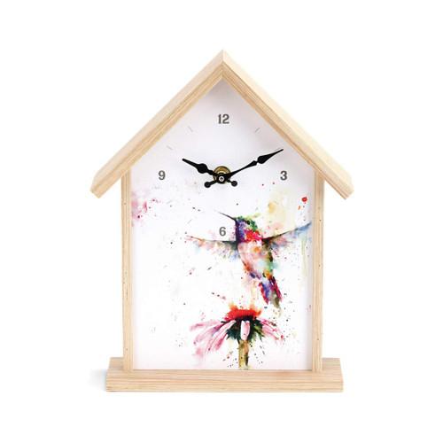 Redhead Hummingbird Birdhouse Clock  By Dean Crouser