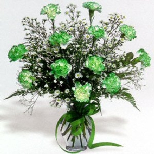 The Luck of the Irish Bouquet- Green Carnation Bouquet
