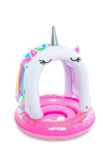 Unicorn with Canopy Pool Float