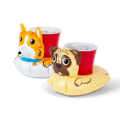 Corgi and Pug Beverage Boat Pool Float (2 pack)