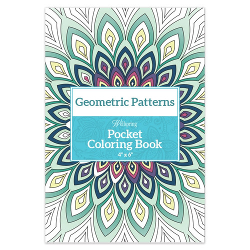 Geometric Pattern Pocket Coloring Book