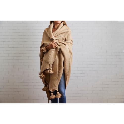 Moroccan Blanket | Camel