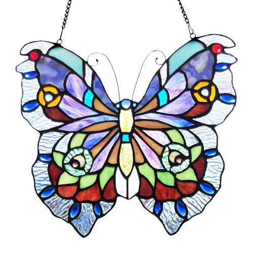 "12"" Butterfly - Stained Glass Panel"
