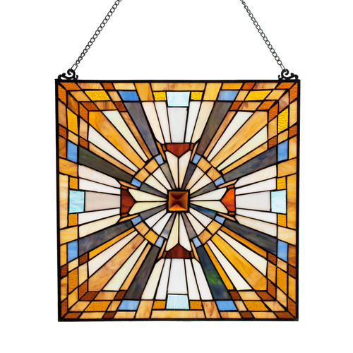 Regal Beauty - Stained Glass Panel