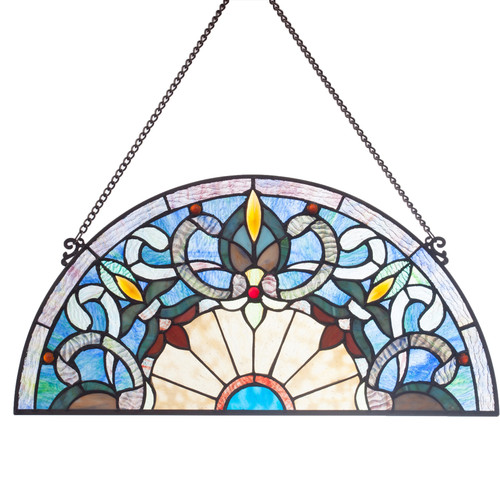 Half Moon - Stained Glass Panel