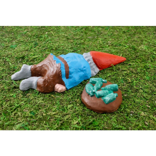 Passed Out Pat with Beer Bottles - Zombie Gnomes