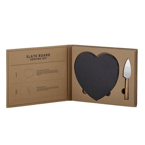 Heart Shaped Slate Serving Set