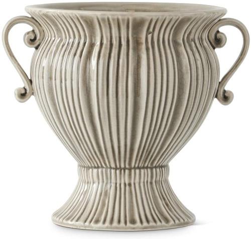 Gray Ceramic Art Deco Style Urn ~ 3 Sizes
