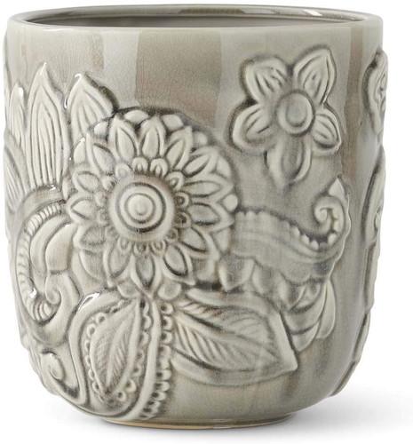 Gray Ceramic Art Deco Style Pots~ 3 Sizes