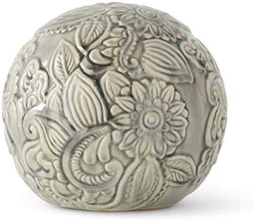 """7"""" Gray Ceramic Art Deco Style Spheres~ 3 Sizes Graduated"""