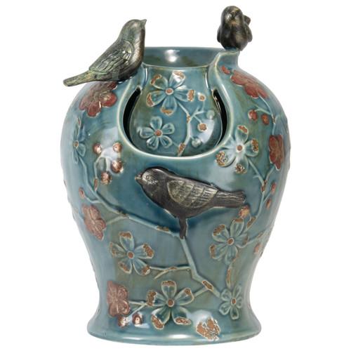 Blue Verdigris Songbird Tabletop Fountain by Foreside Home & Garden