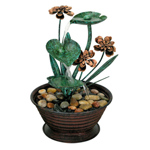Lily Pad Tabletop Fountain by Foreside Home & Garden
