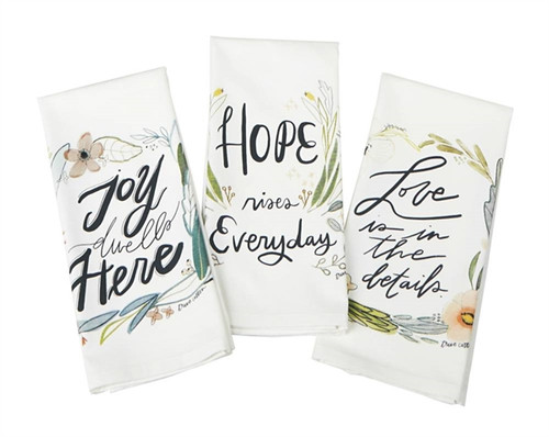 Hope, Love & Joy Tea Towel Set
