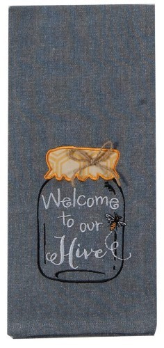 """""""Welcome to Our Hive!"""" Tea Towel by Kaydee Designs"""