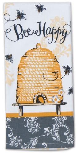 """""""Bee Happy""""  Tea Towel by Kaydee Designs"""