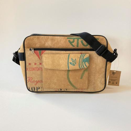 Recorder Messenger Bag - Made from Tea Shipping Sacks By Kuro Street