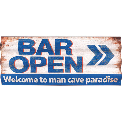 "31"" Bar Open~Welcome to Man Cave Paradise ... Wall Sign"